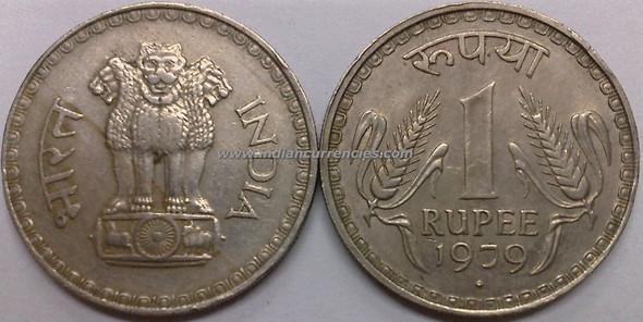 1 Rupee of 1979 - Mumbai Mint - Diamond