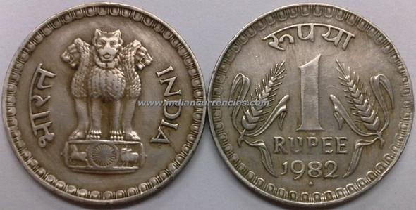 1 Rupee of 1982 - Mumbai Mint - Diamond