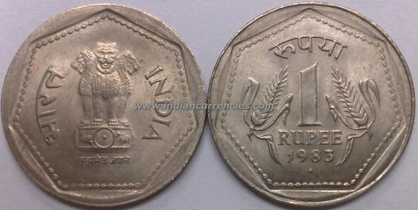 1 Rupee of 1983 - Mumbai Mint - Diamond
