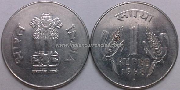1 Rupee of 1998 - Mumbai Mint - Diamond