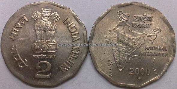 2 Rupees of 2000 - Mumbai Mint - Diamond