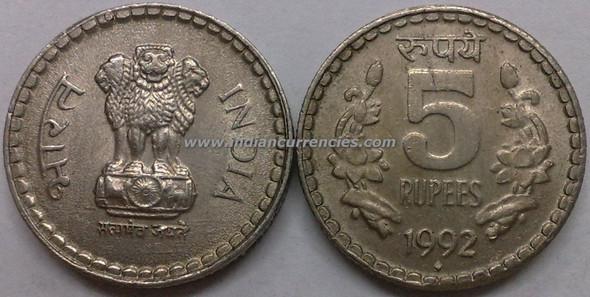 5 Rupees of 1992 - Mumbai Mint - Diamond