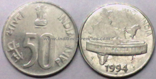 50 Paise of 1994 - Noida Mint - Round Dot