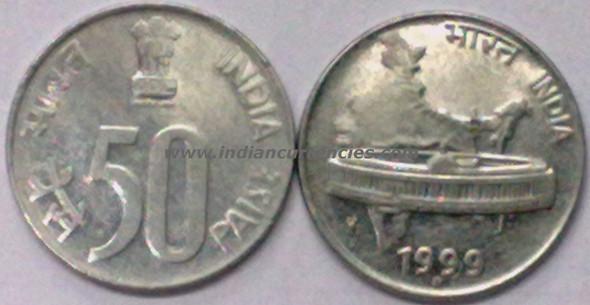 50 Paise of 1999 - Noida Mint - Round Dot