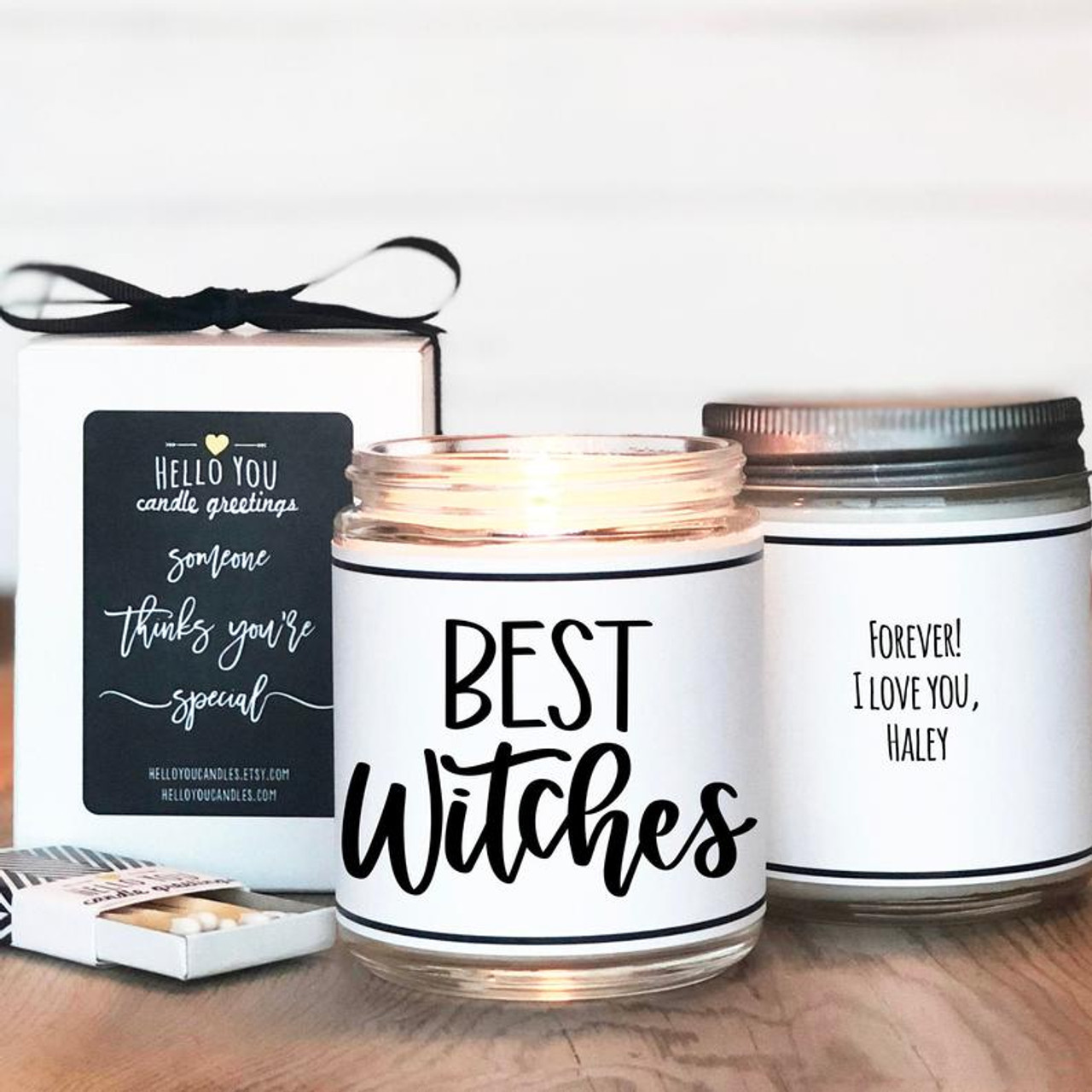 Best Witches Halloween Scented Soy Candle Gift