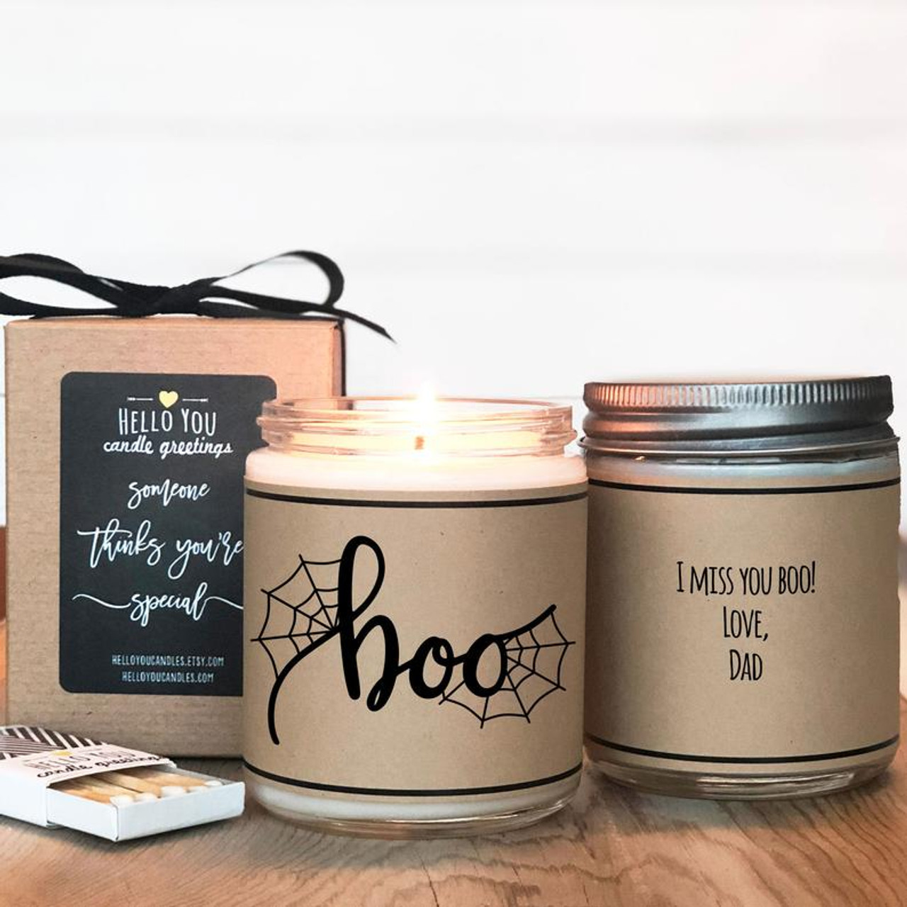 Boo Halloween Scented Soy Candle Gift Personalized Gift