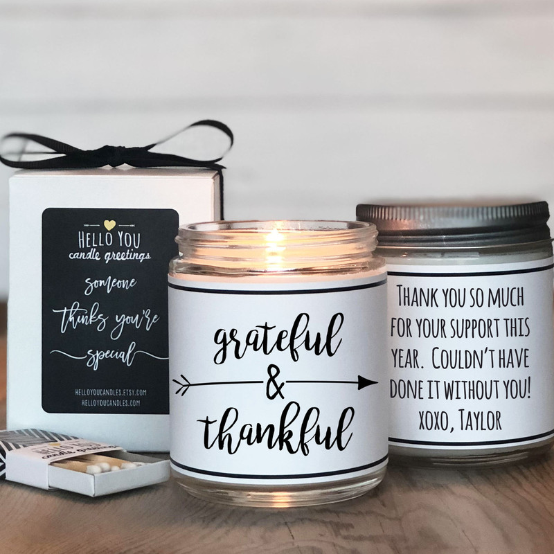 Grateful & Thankful Thanksgiving Candle