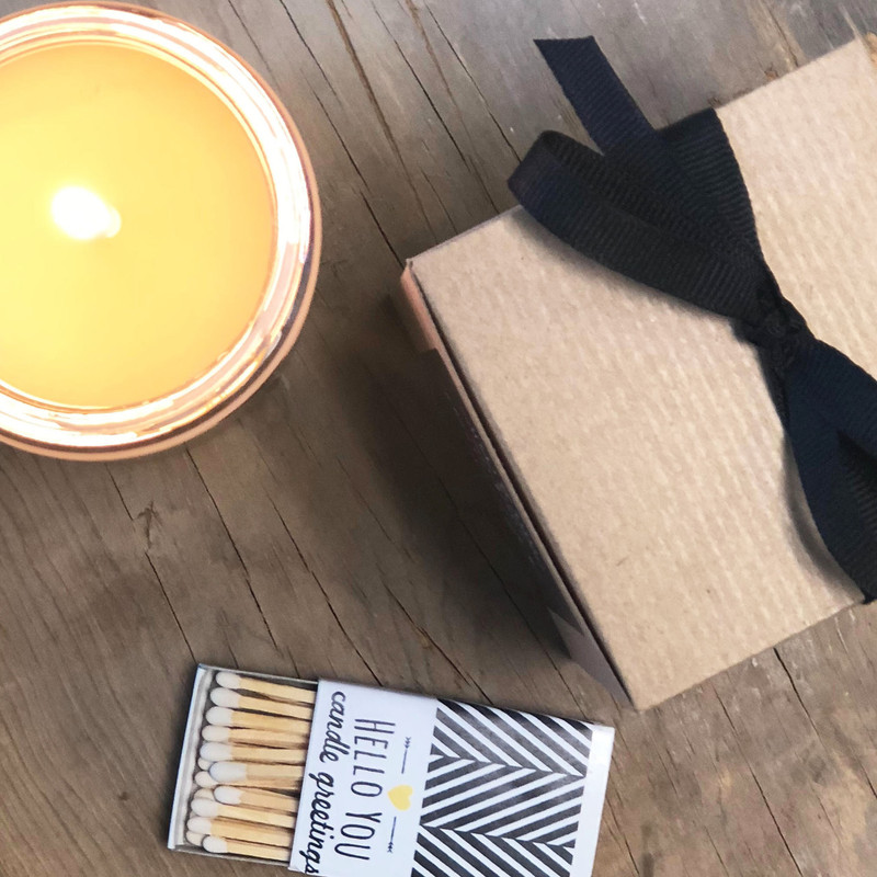 #Thankful Soy Candle Gift