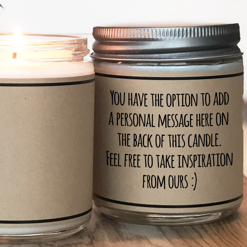 Candle with personal message