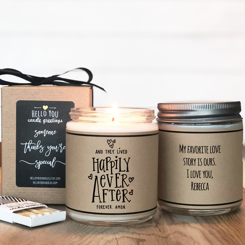 Happily Ever After Candle Gift