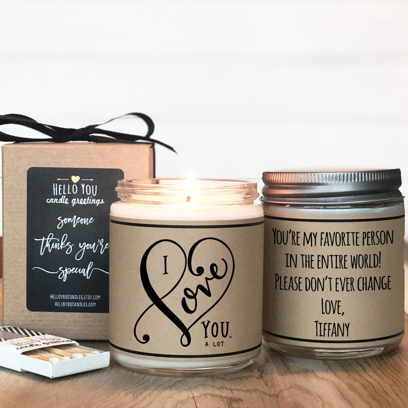 I love you a lot candle