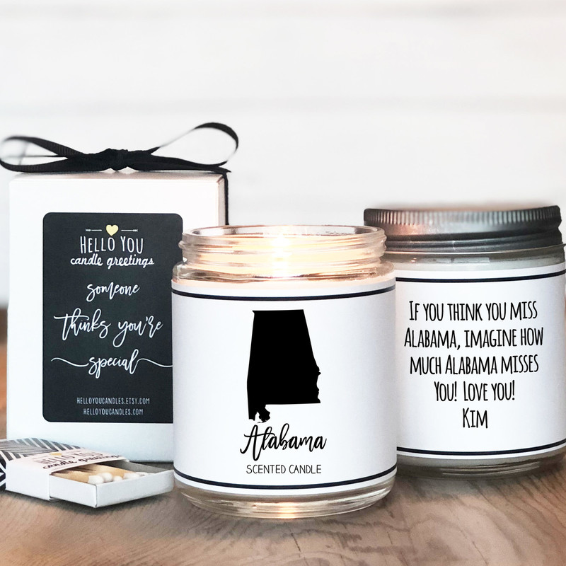 Alabama Scented Candle, State Scented Candle, Alabama Lover Gift