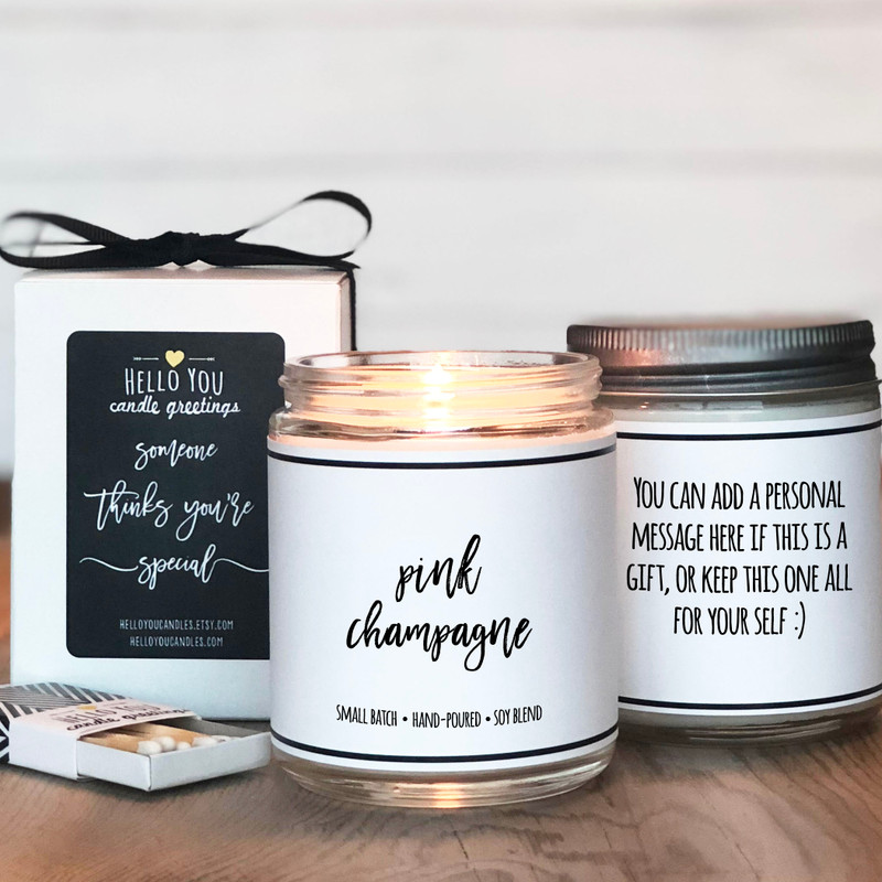 Pink Champagne Scented candle