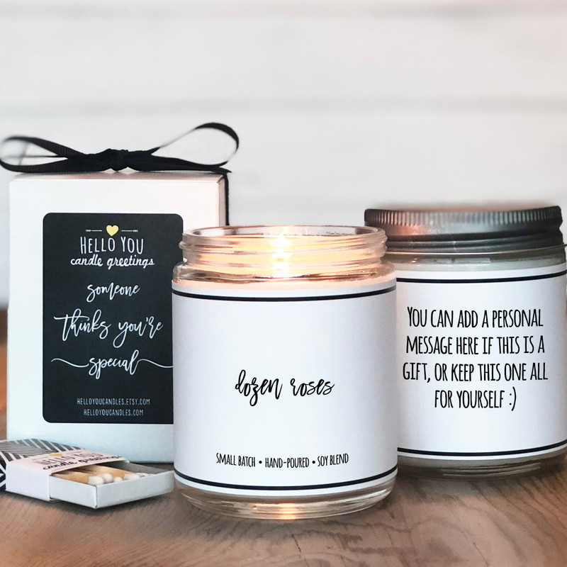 Dozen Roses Scented Candle