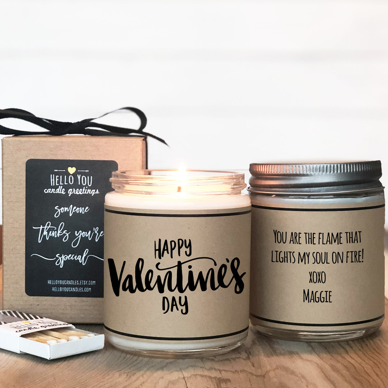 Happy Valentine's Day Soy Candle