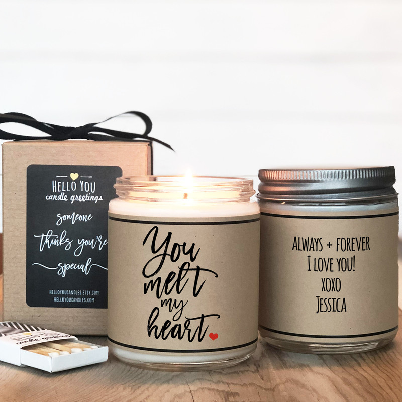 You Melt My Heart - Valentine's Day Candle