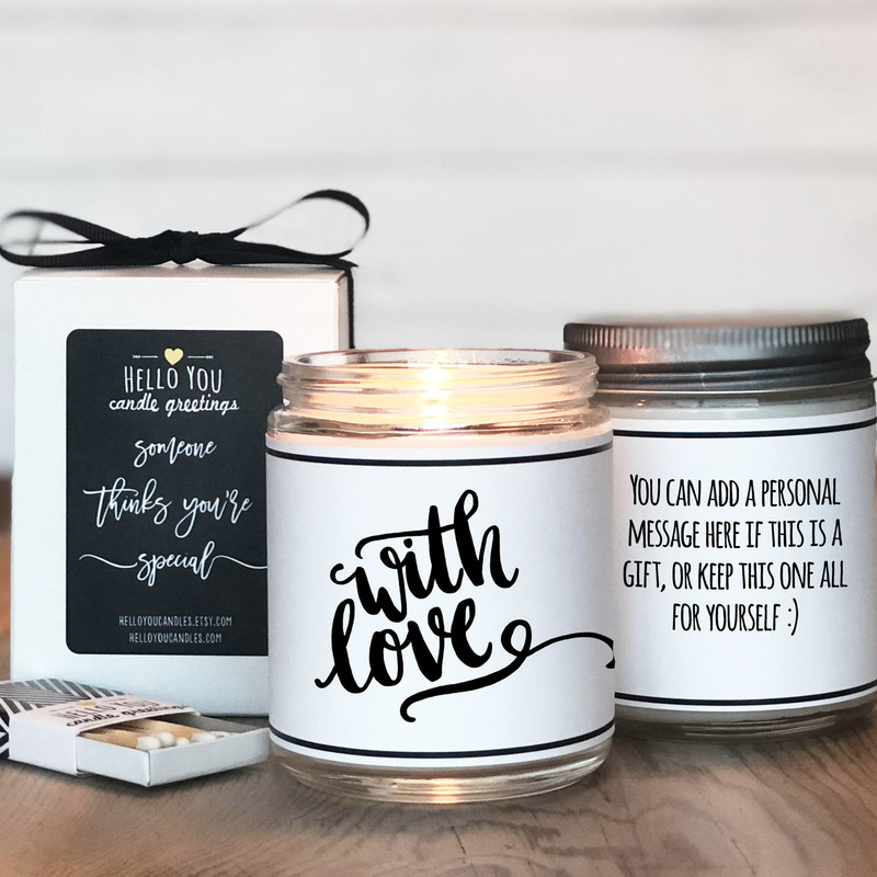 With Love Candle Gift