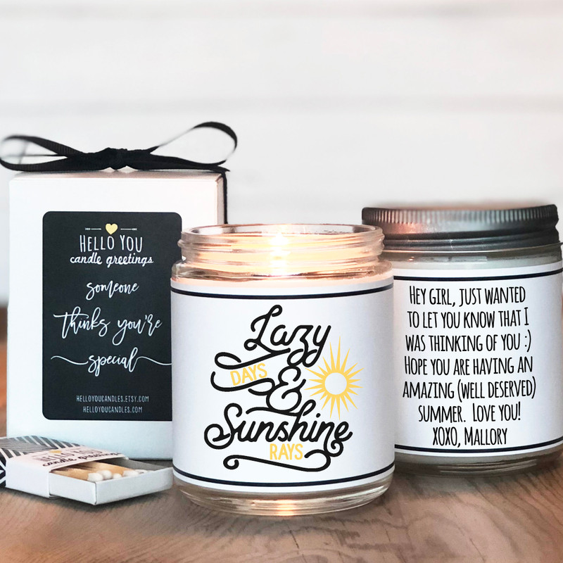 Lazy Days and Sunshine Rays Candle Gift