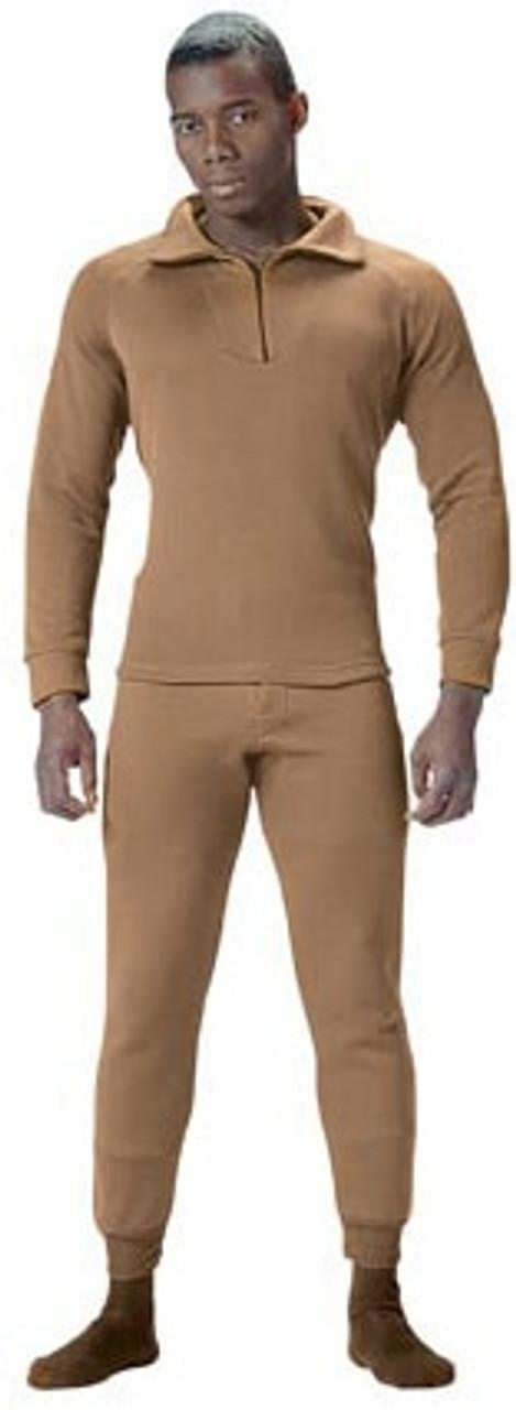 G.I. Extreme Cold Weather Polypropylene Zip-Collar Shirts-6214