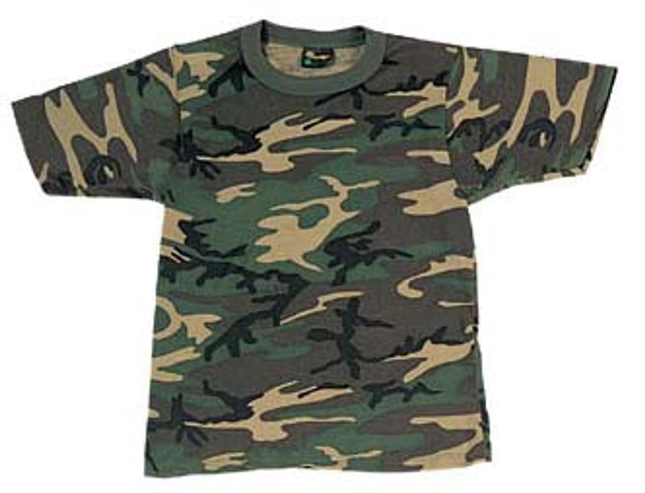 U.S. MADE Woodland Camouflage T-Shirt -6779