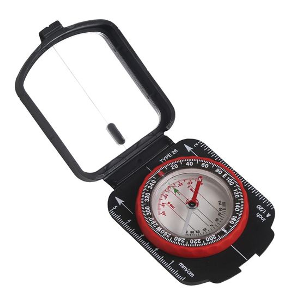 STansport® MULTI-FUNCTION COMPASS WITH MIRRORED COVER