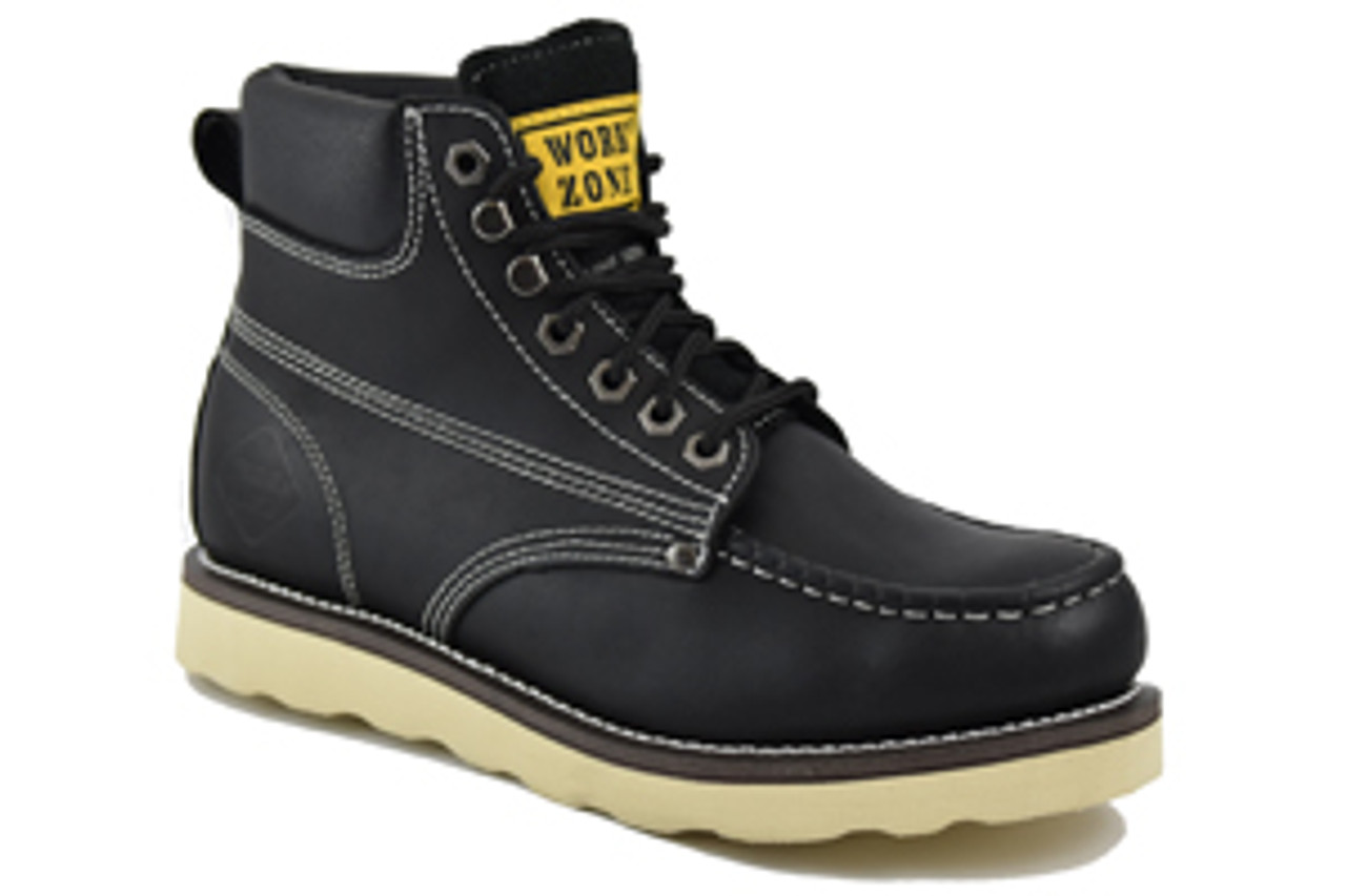 "Work Zone® 6"" Full Grain Leather Classic Style/Soft Toe"