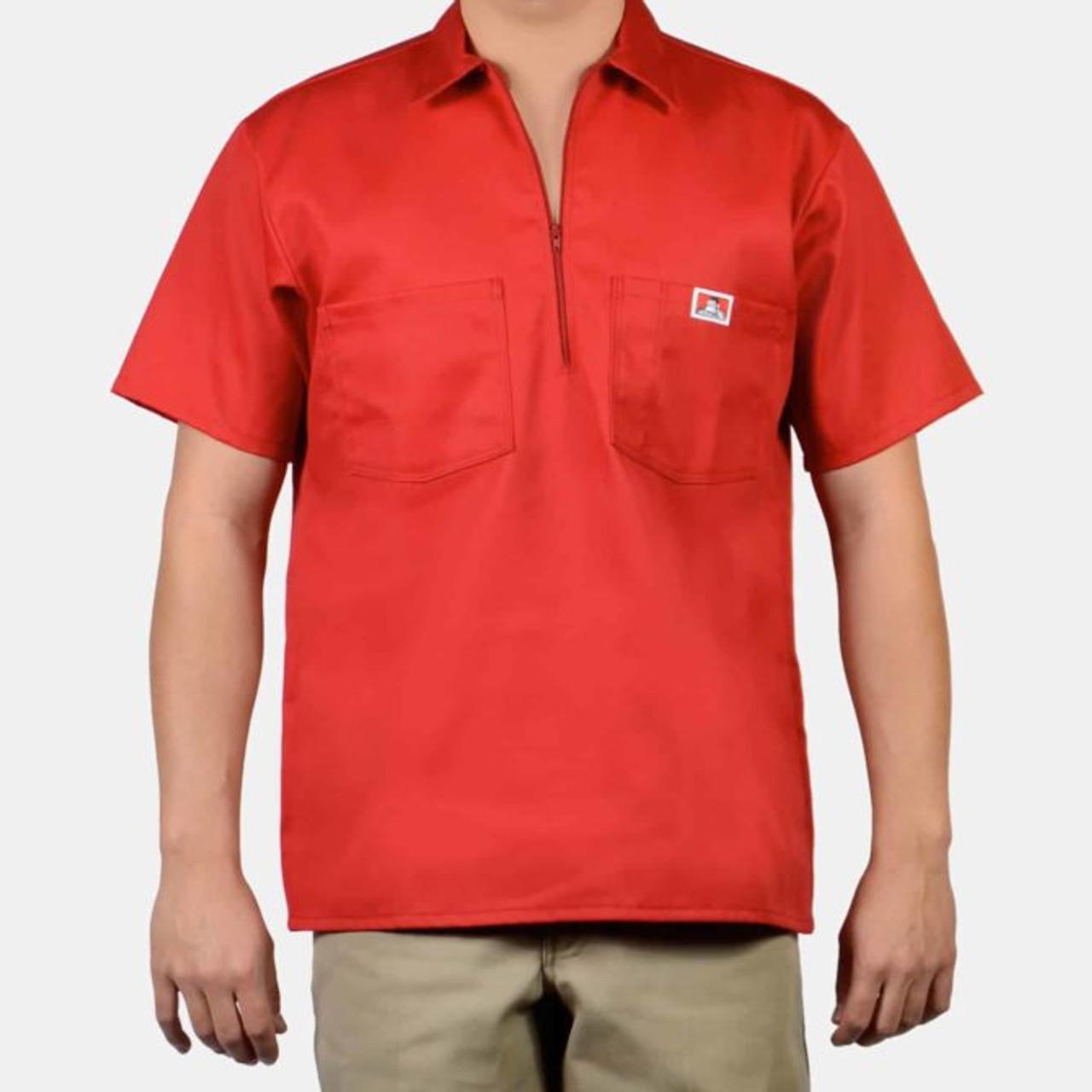 Ben Davis® Short Sleeve Solid, 1/2 Zip