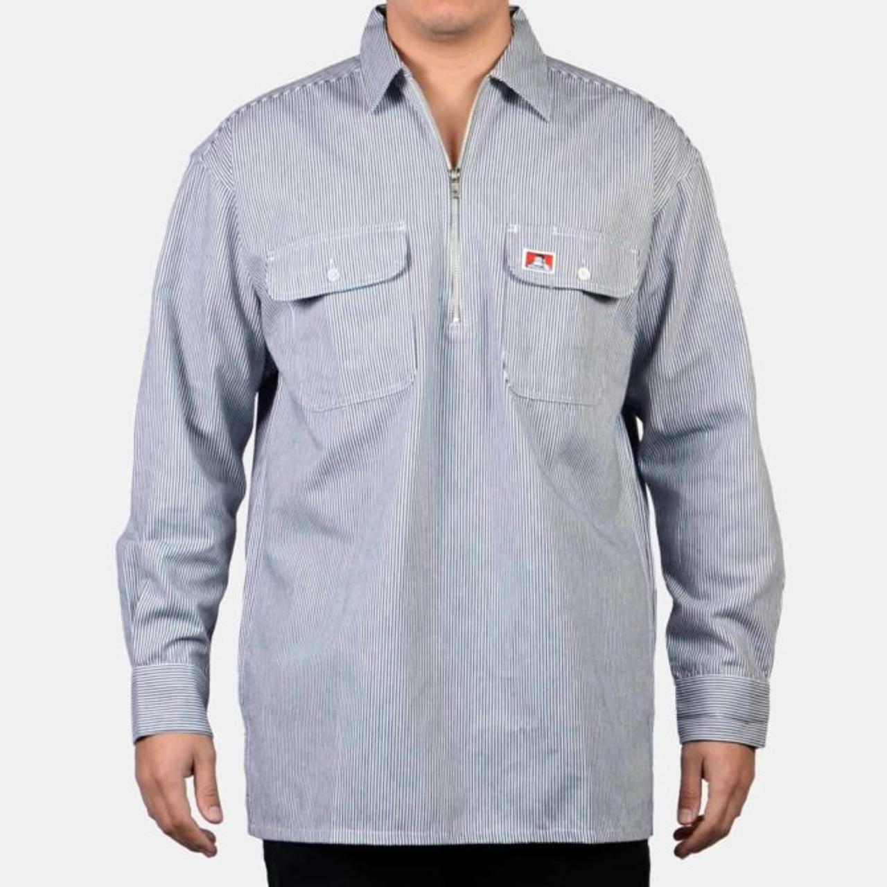 Ben Davis® 100% Cotton Long Sleeve Striped Button-Up
