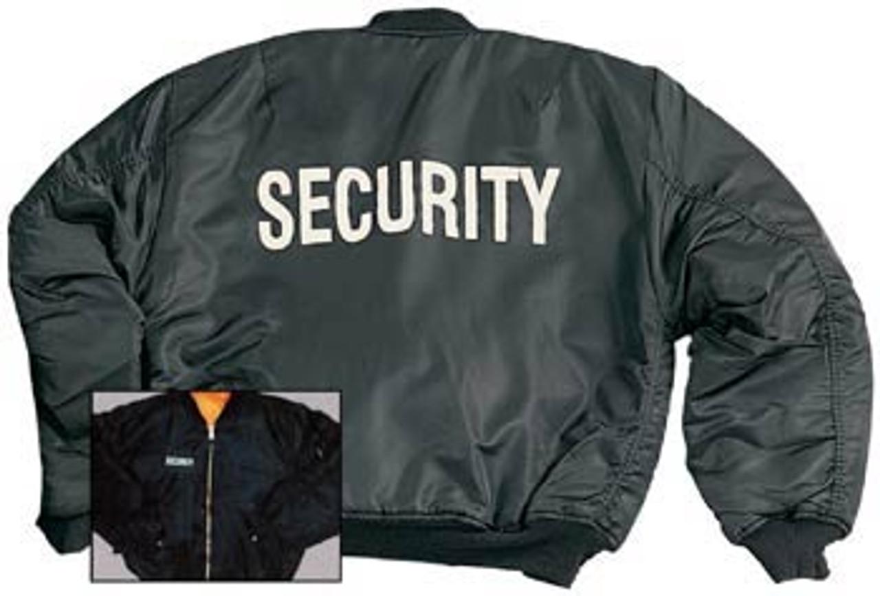 """Security"" MA-1 Flight Jacket-7358"