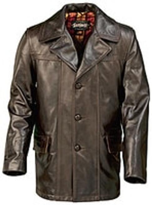 Schott Lightweight Cowhide Fitted Retro Carcoat-645