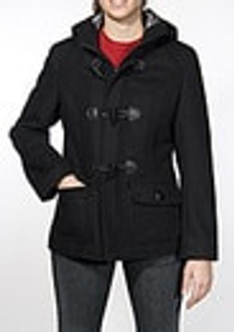 "Women's 27"" 24oz. Wool Blend Cropped Duffle Coat"
