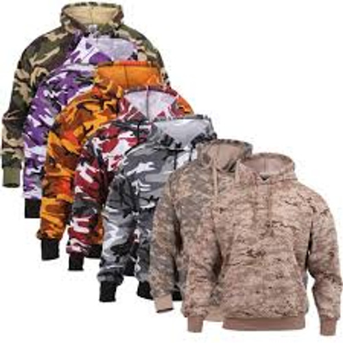 Camouflage Pullover Hooded Sweatshirt - 2XL