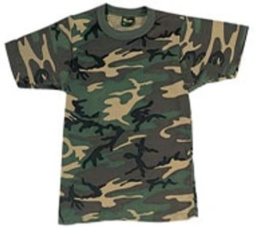 Woodland Camouflage T-Shirt-8777