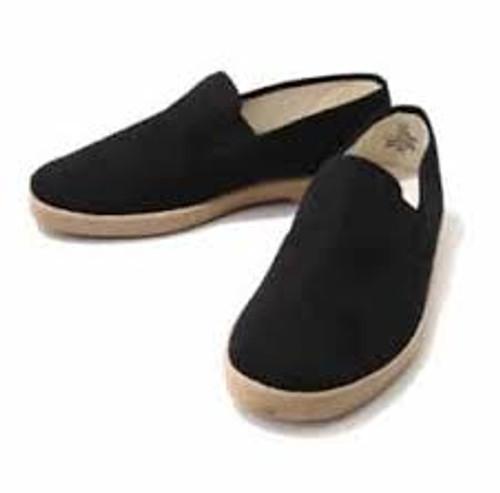 Zig Zag Slip-On Shoes Black/Gum Sole-7206