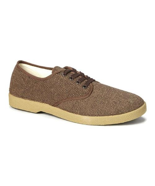 Zig Zag Herringbone Oxford Shoe-7210