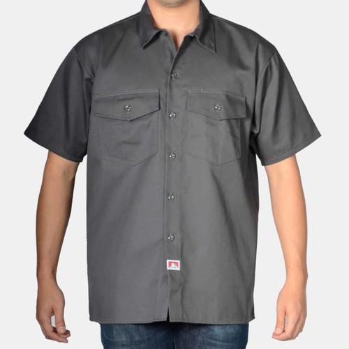Ben Davis® Short Sleeve Solid Button-Up
