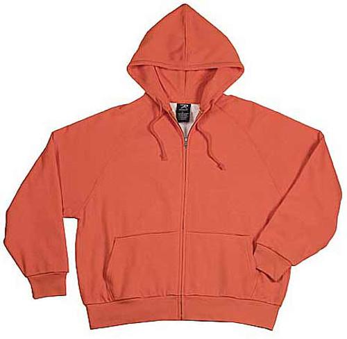 Blaze Orange Thermal-Lined Zipper Hooded Sweatshirt