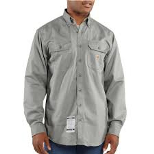 Carhartt® Flame-Resistant Twill Shirt with Pocket Flaps-FRS160