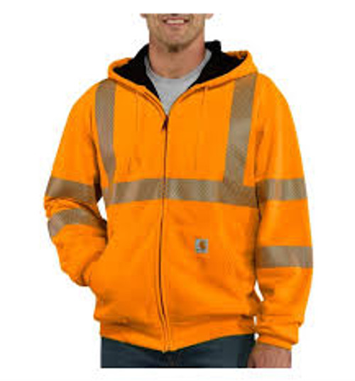 Carhartt® High-Visibility Class 3 Thermal-Lined Hooded Zip-Front Sweatshirt-100504