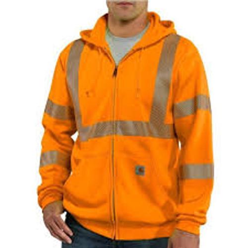 Carhartt® High-Visibility Zip-Front Class 3 Sweatshirt-100503