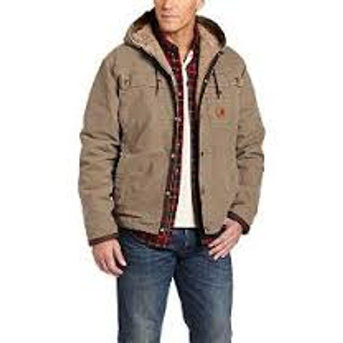 Carhartt Sandstone Hooded Multi-Pocket Jacket-J284