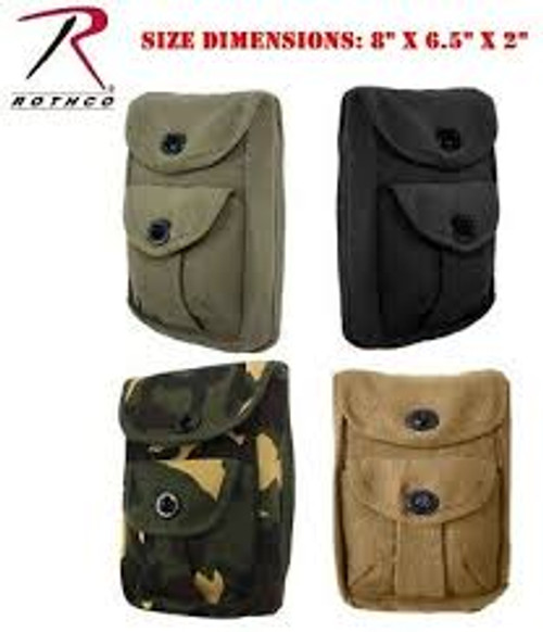 Cotton Canvas 2 Pocket Ammo Pouch