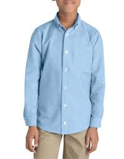Dickies Boys' Long Sleeve Oxford Shirt-KL920