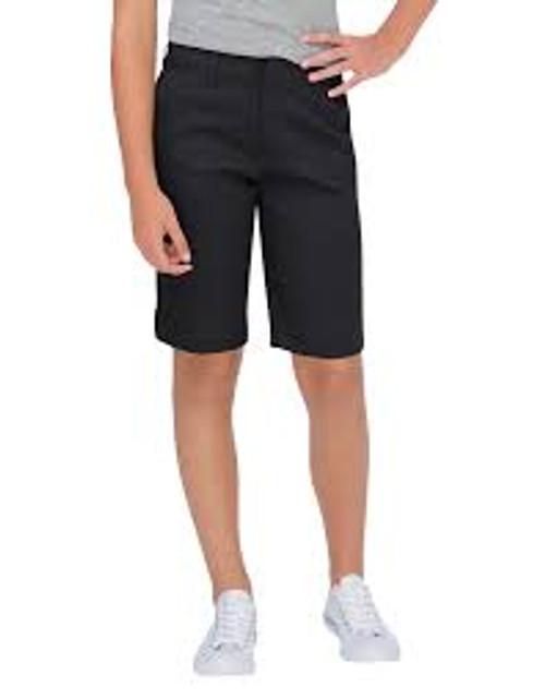 DICKIES GIRLS' CLASSIC FIT BERMUDA STRETCH TWILL SHORTS-KR0014