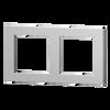 2-fold metal plate, 55x55 + 60x60 windows