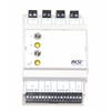 Control and signal module, DIN ISO16484, VDI 3814 manual operation interface, 2 potentiometer 10kOhm, 2 switches: UP-CENTER-DOWN, 2 LEDs in WHITE