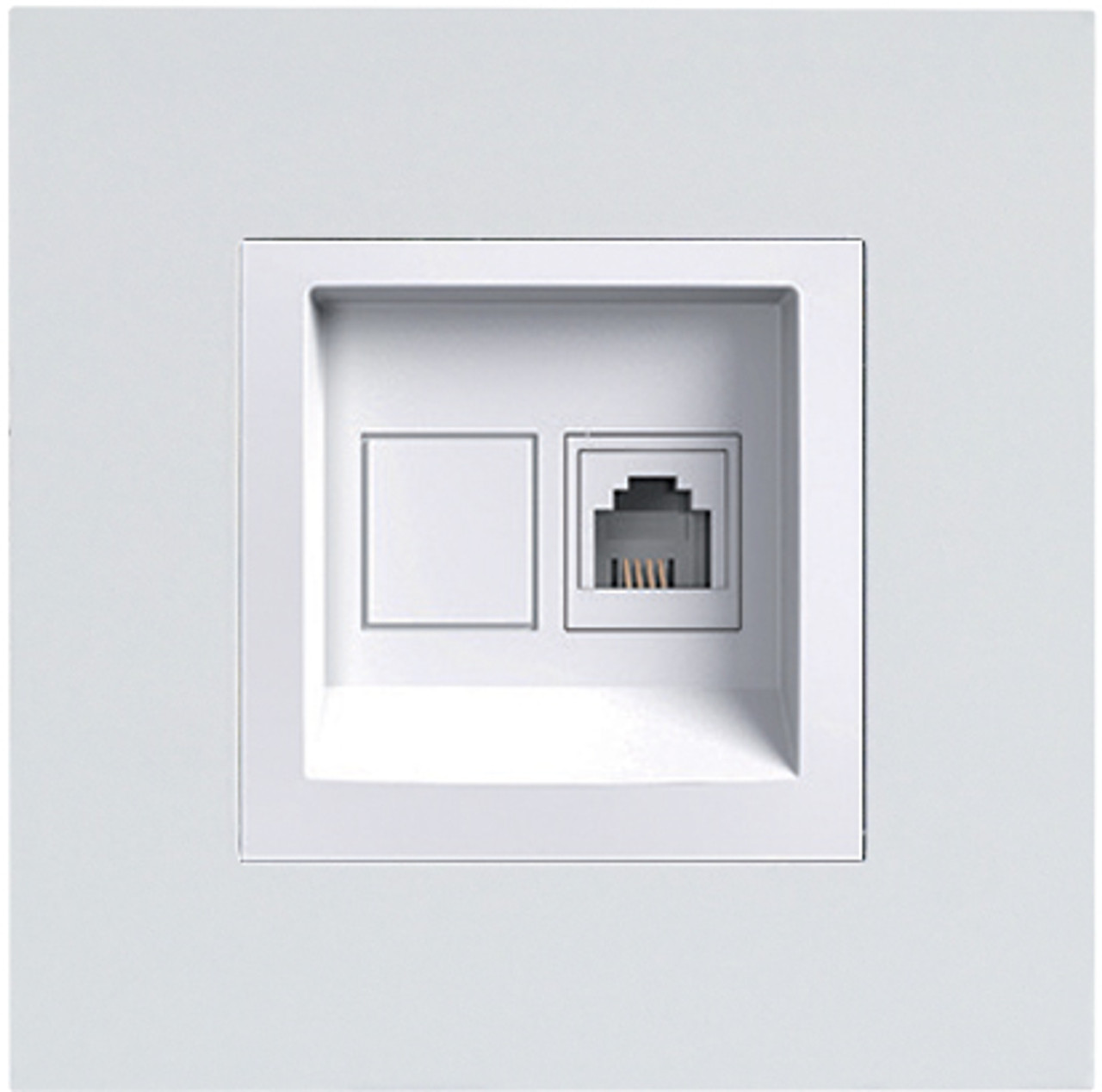 ASF GRAY 1*RJ45  WITHOUT FRAME