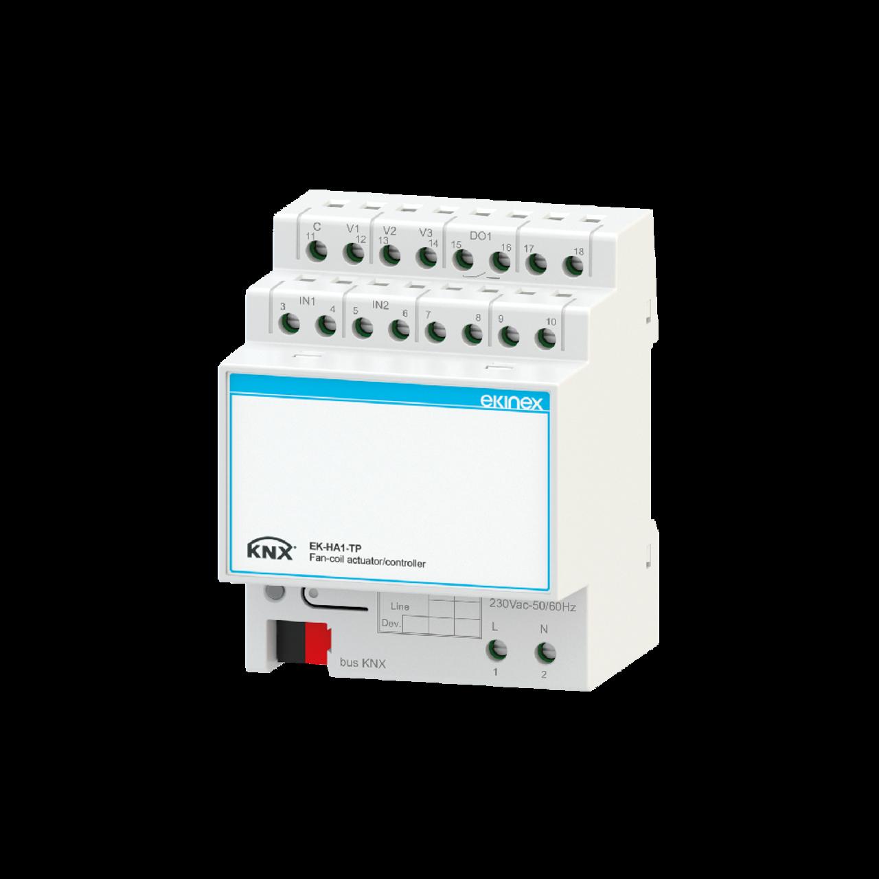 Fancoil actuator / controller - 3-speed fan control
