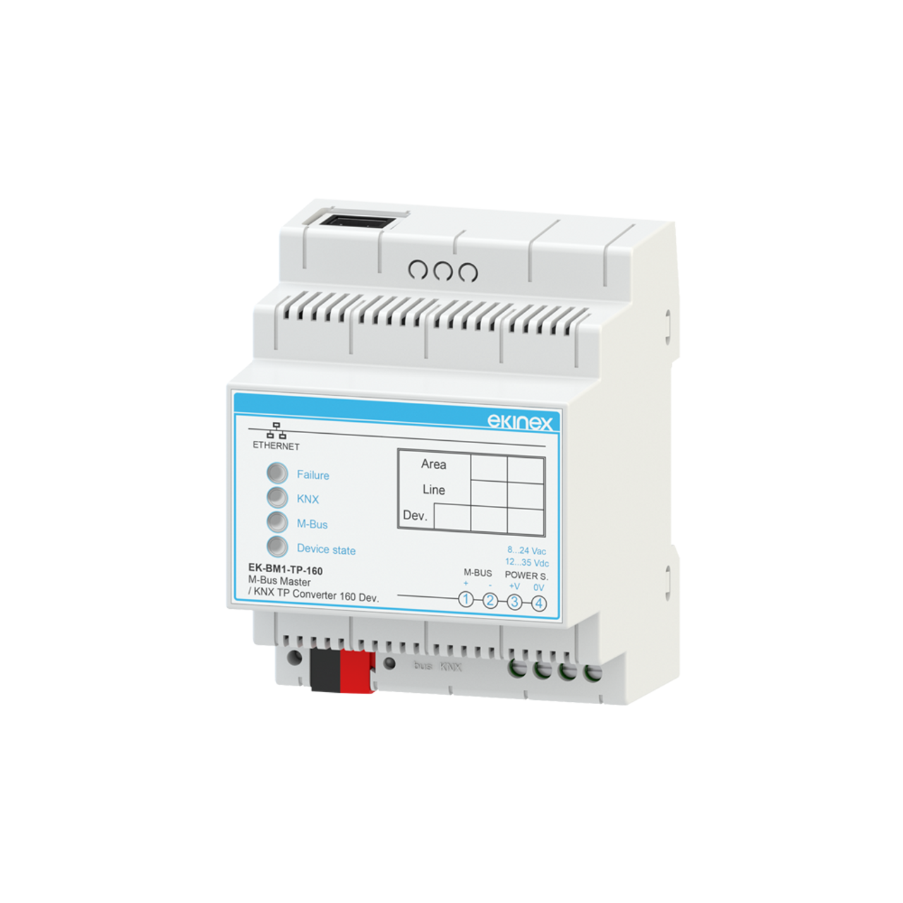 Gateway M-Bus Master - KNX TP - 160 devices