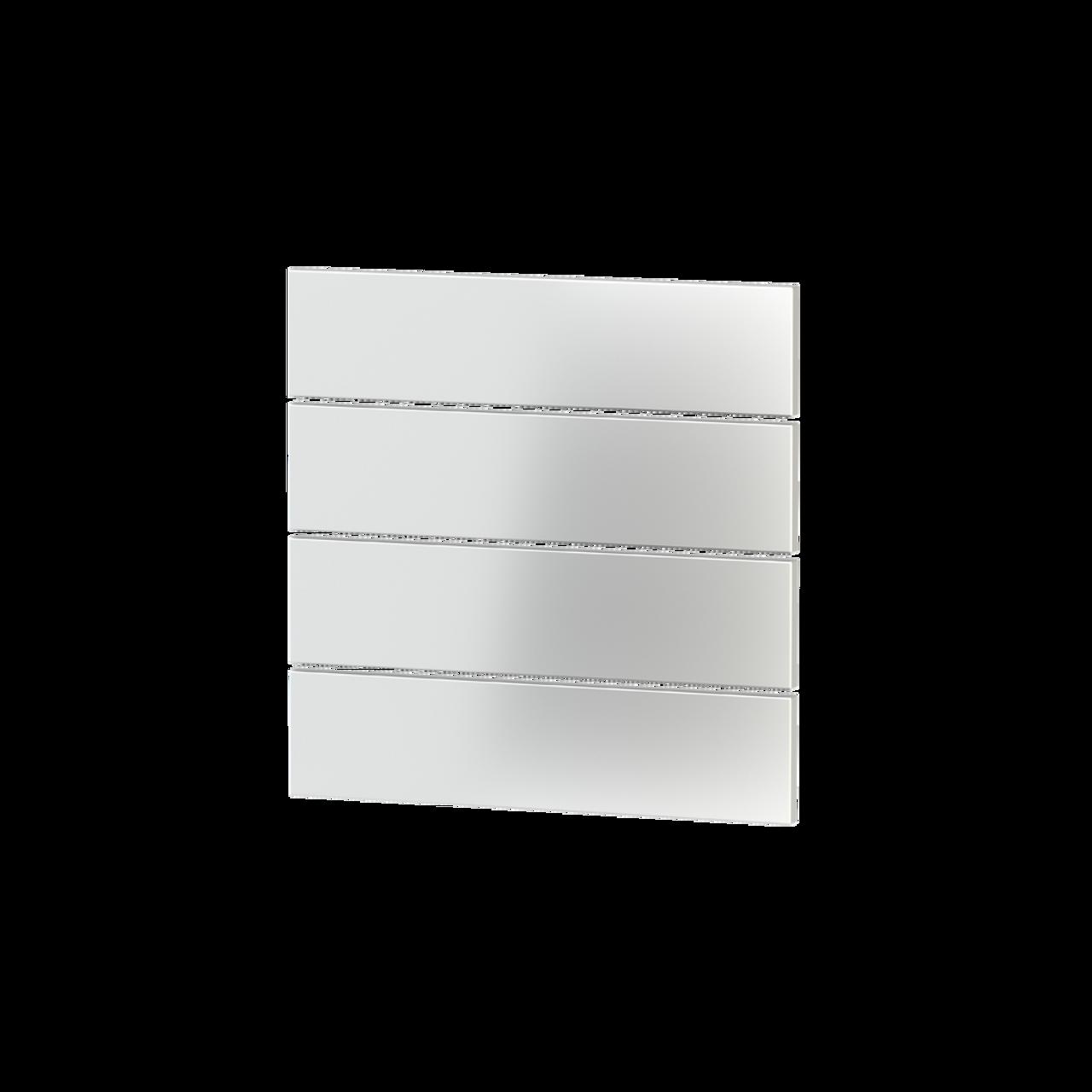 Rectangular horizontal plastic rocker (4 pcs.) - for 4-fold pushbutton FF series